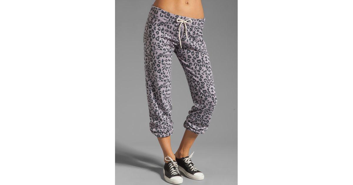 774f27f01562 Monrow Leopard Print Vintage Sweats in Purple Haze in Purple - Lyst