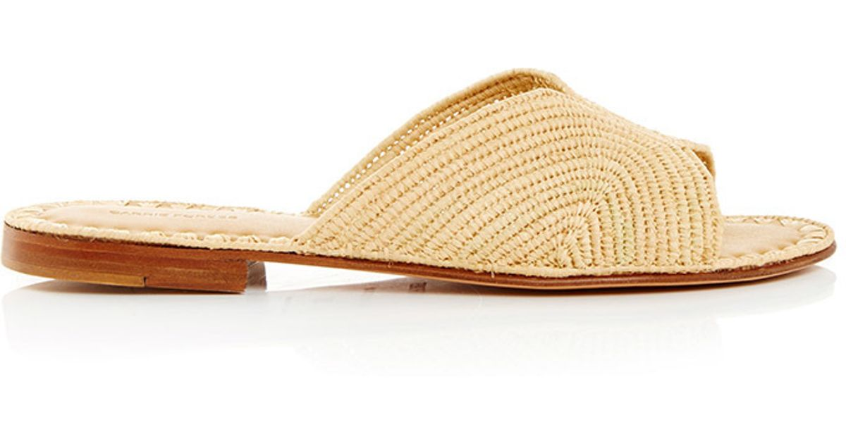 c12236543f76 Lyst - Carrie Forbes Natural Salon Slip On Sandals in Natural