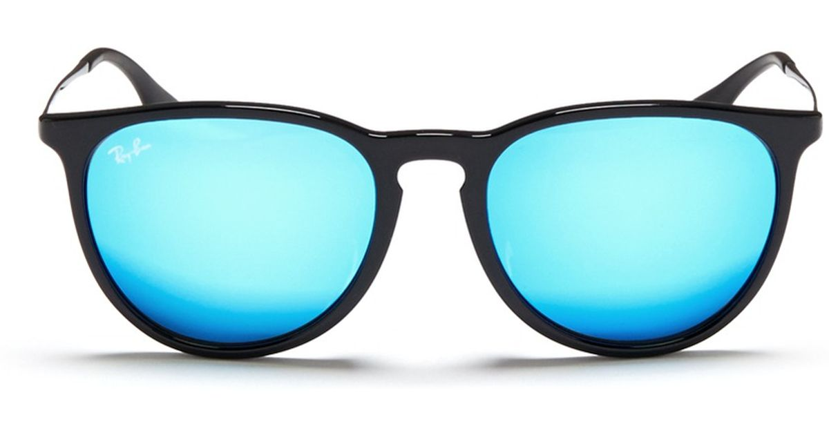 ray ban blue reflective aviators