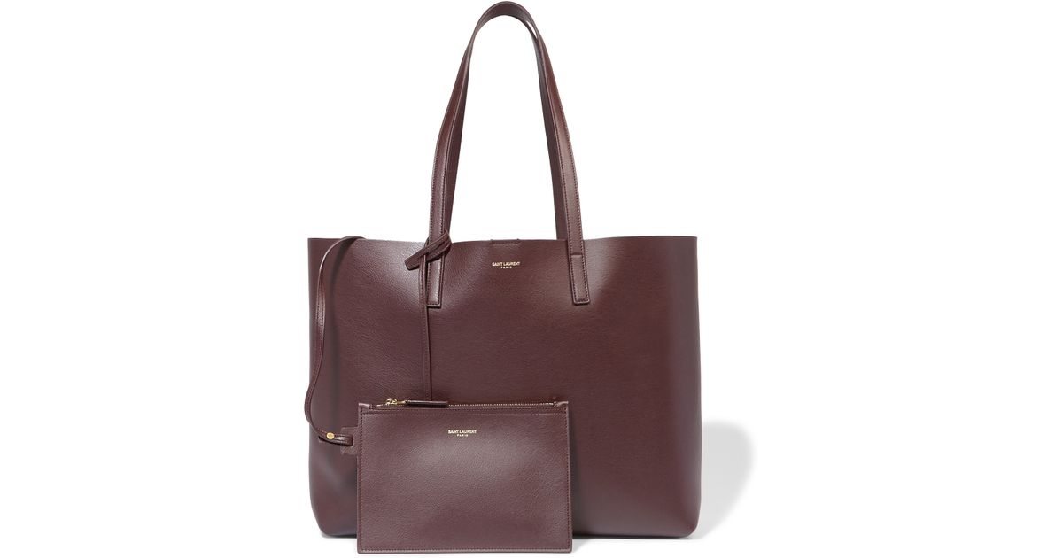6d64893da1a Saint Laurent Shopping Large Leather Tote in Purple - Lyst