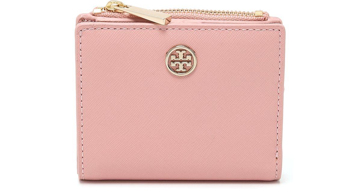 8574b350c Lyst - Tory Burch Robinson Mini Wallet - Iceberg in Pink