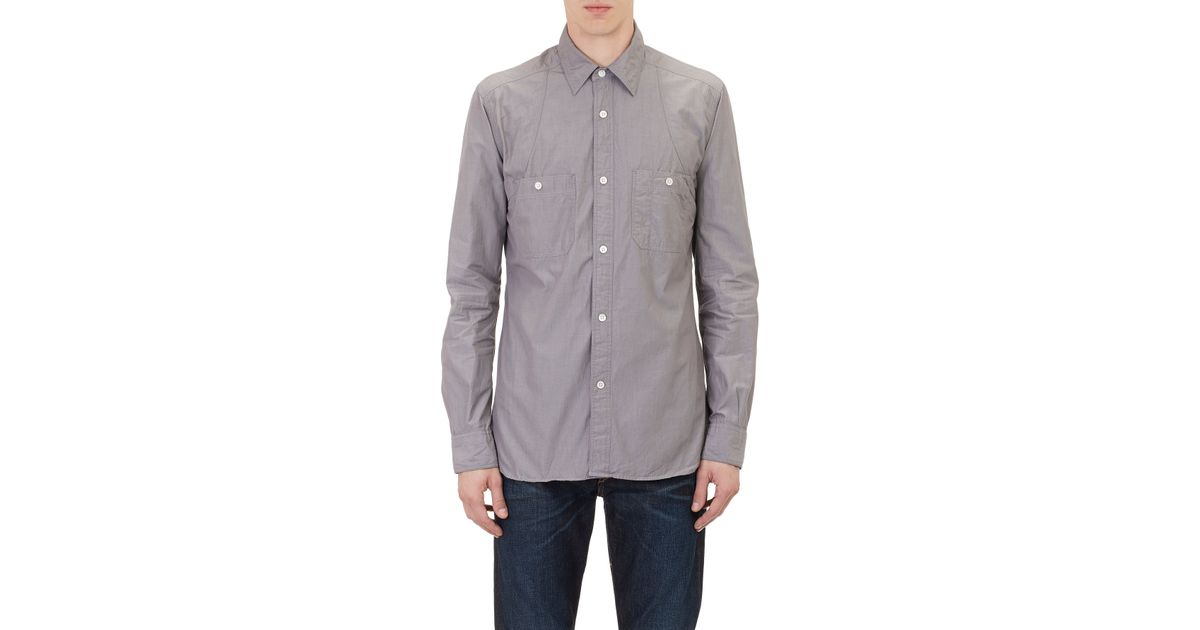 521e0d4202ca84 Nigel Cabourn Utility Shirt in Gray for Men - Lyst
