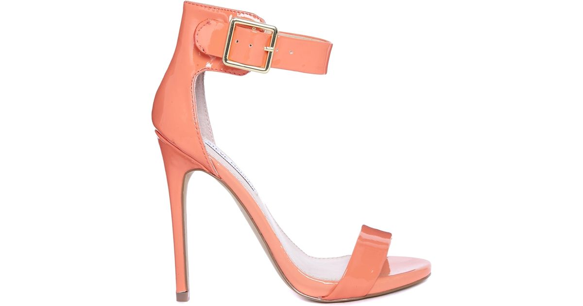 5267973c0aa Lyst - Steve Madden Marlenee Coral Heeled Sandals in Pink