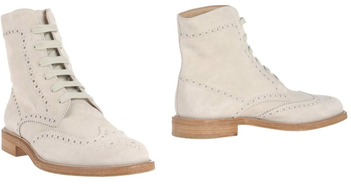 tod s ankle boots in beige for ivory save 41 lyst