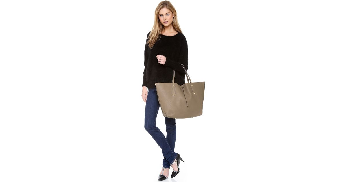 Lyst - Annabel Ingall Large Isabella Tote in Gray ff9a954af89ee