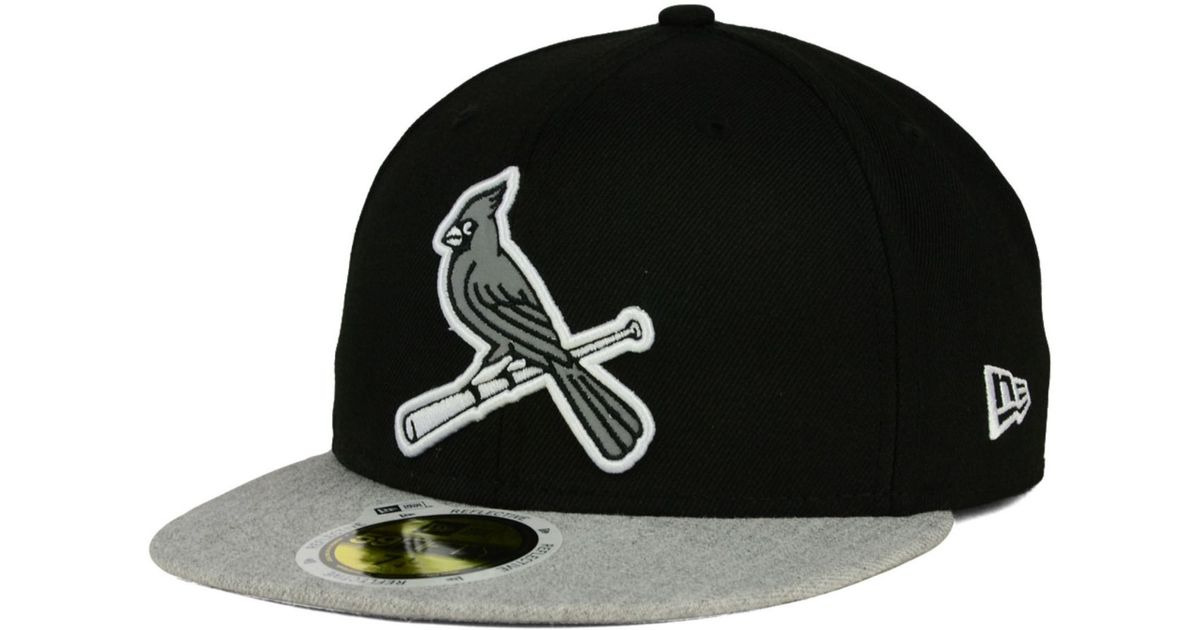 huge selection of d6136 3e9ae ... norway lyst ktz st. louis cardinals night reflective 59fifty cap in  black for men 878c0