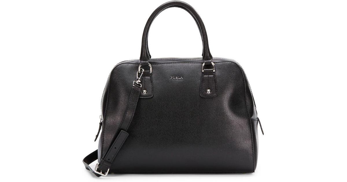 73639cd74e49 Lyst - Furla Elena Saffiano Leather Satchel in Black