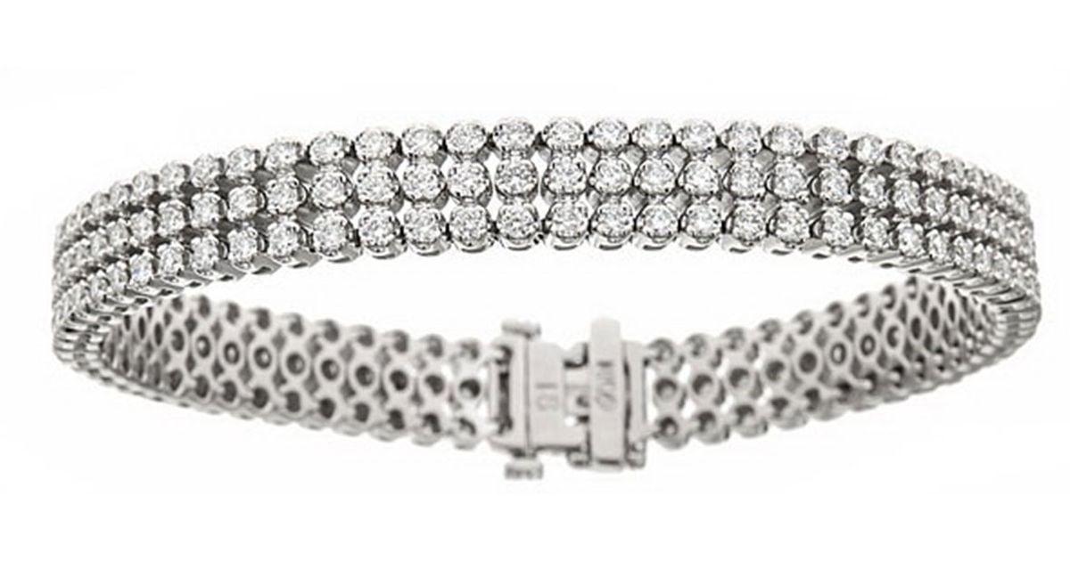 Neiman marcus Three row Diamond Bracelet in Metallic