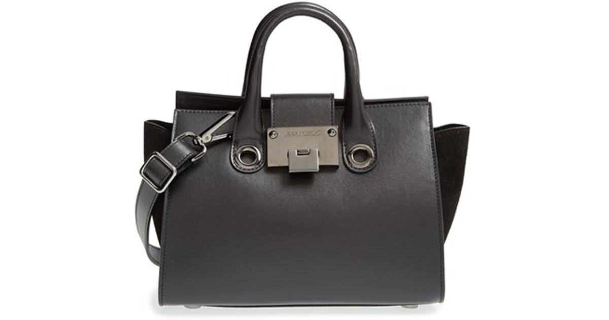 8af45f1a2d2 Lyst - Jimmy Choo  Small Riley  Leather Crossbody Bag in Black