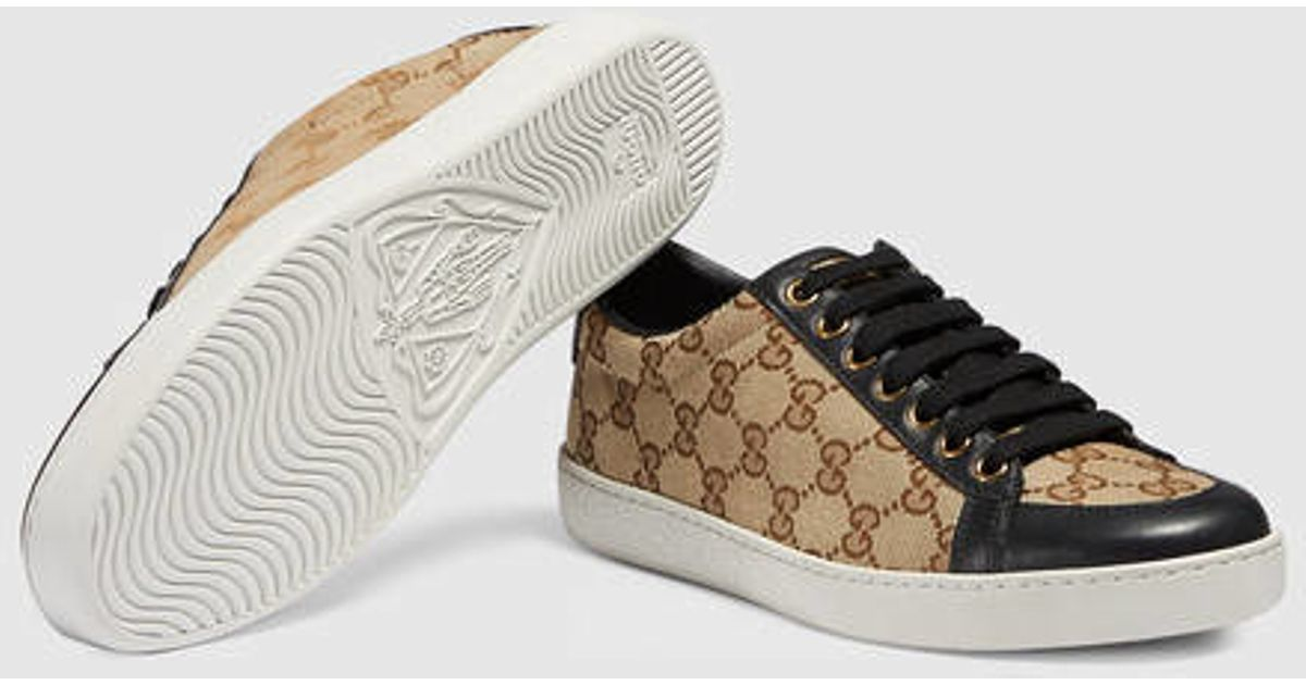 f25eb167acb Lyst - Gucci Brooklyn Original Gg Lace-up Sneaker in Brown for Men