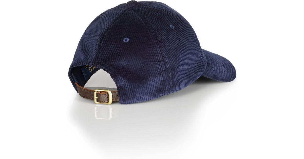 541cb3097 Polo Ralph Lauren Corduroy Sports Cap in Blue for Men - Lyst