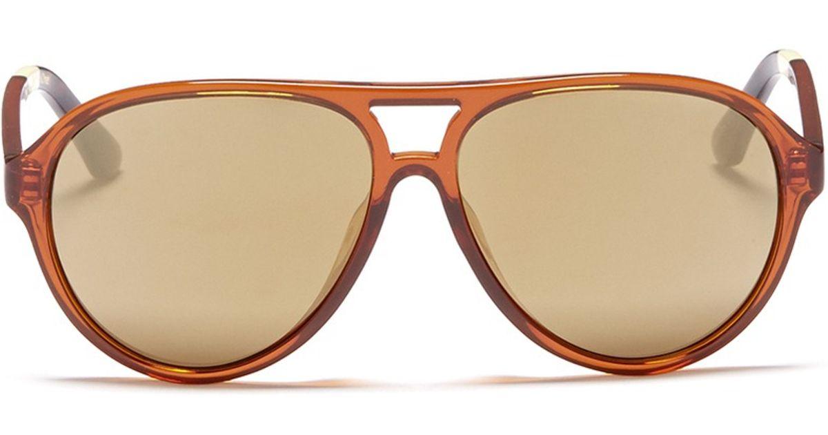 1bd9126fa665 TOMS 'marco' Acetate Aviator Sunglasses in Brown - Lyst