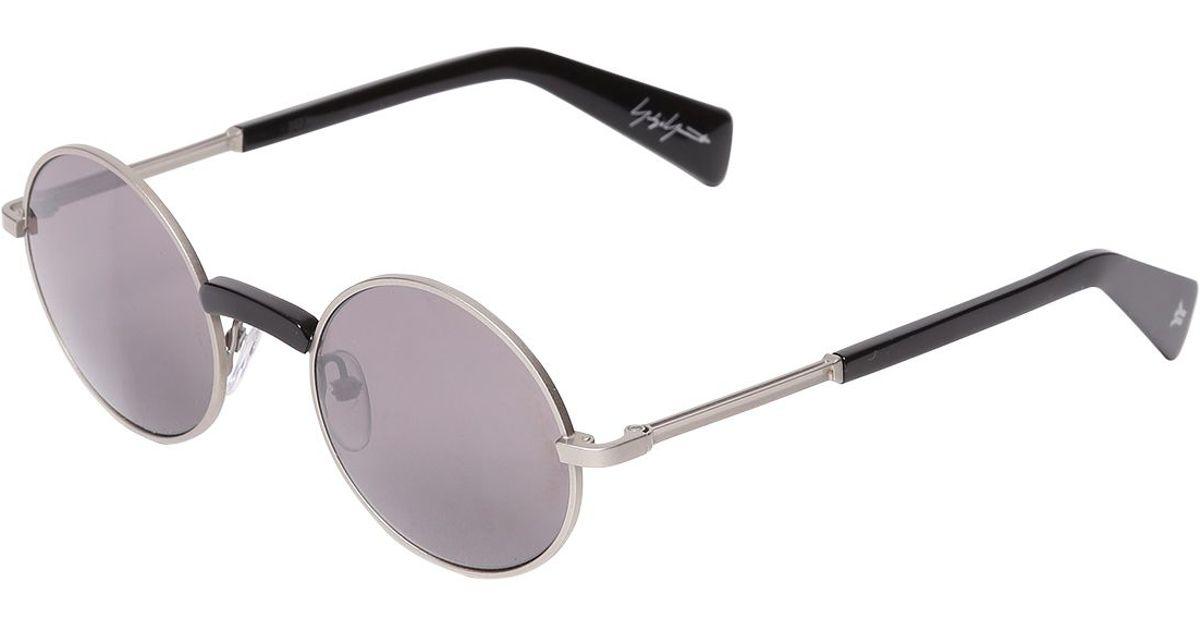 7f3c091fd Yohji Yamamoto Round Metal Frame Sunglasses in Metallic - Lyst