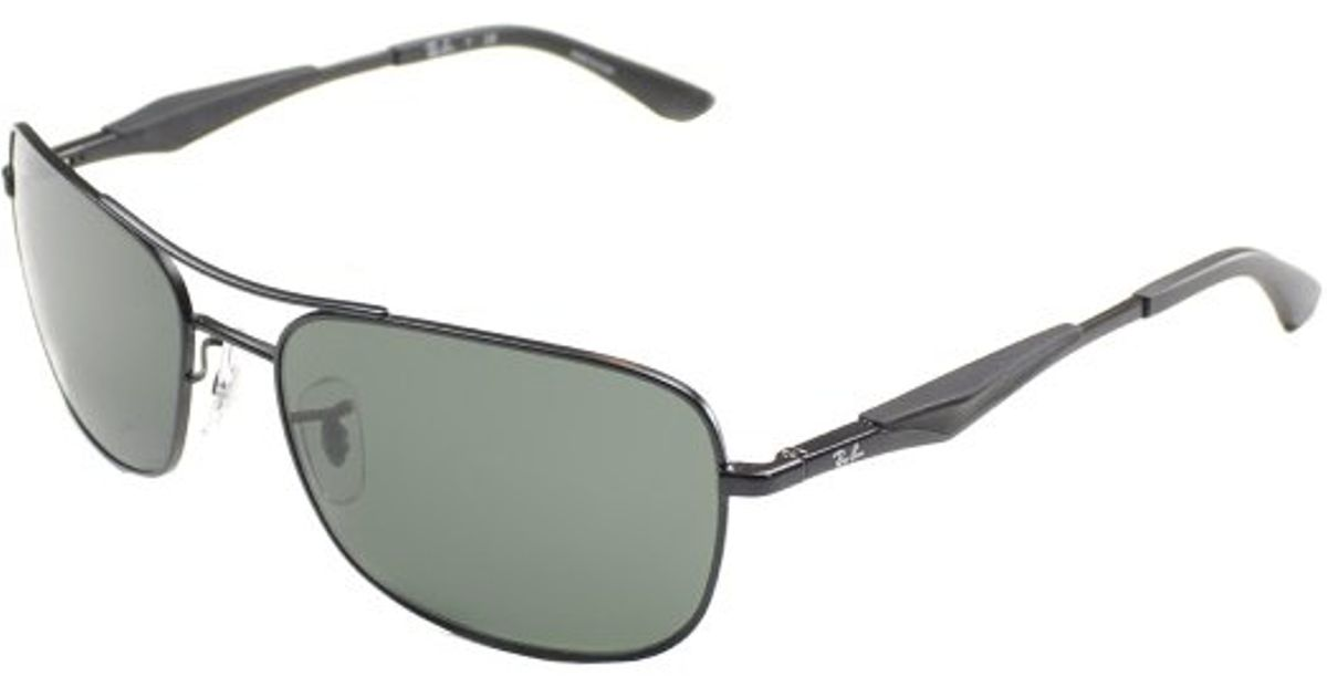 317b4c0a4f0 Lyst - Ray-Ban Ray Ban Rb3515 006 71 Rectangle Metal Sunglasses-61mm in  Black for Men