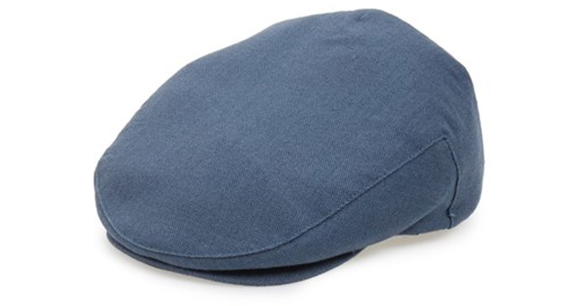 ... low cost lyst brixton hooligan driving cap in blue for men d99e3 bf11f 235bbfed75b
