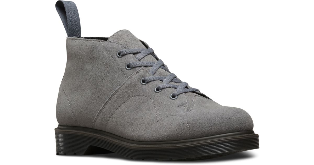 6ba7210665 Dr. Martens Church 5-eye Monkey Boot in Gray for Men - Lyst