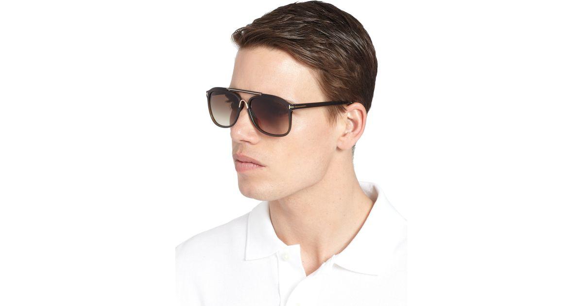 de30eaab17 Tom Ford Cade Sunglasses in Green for Men - Lyst