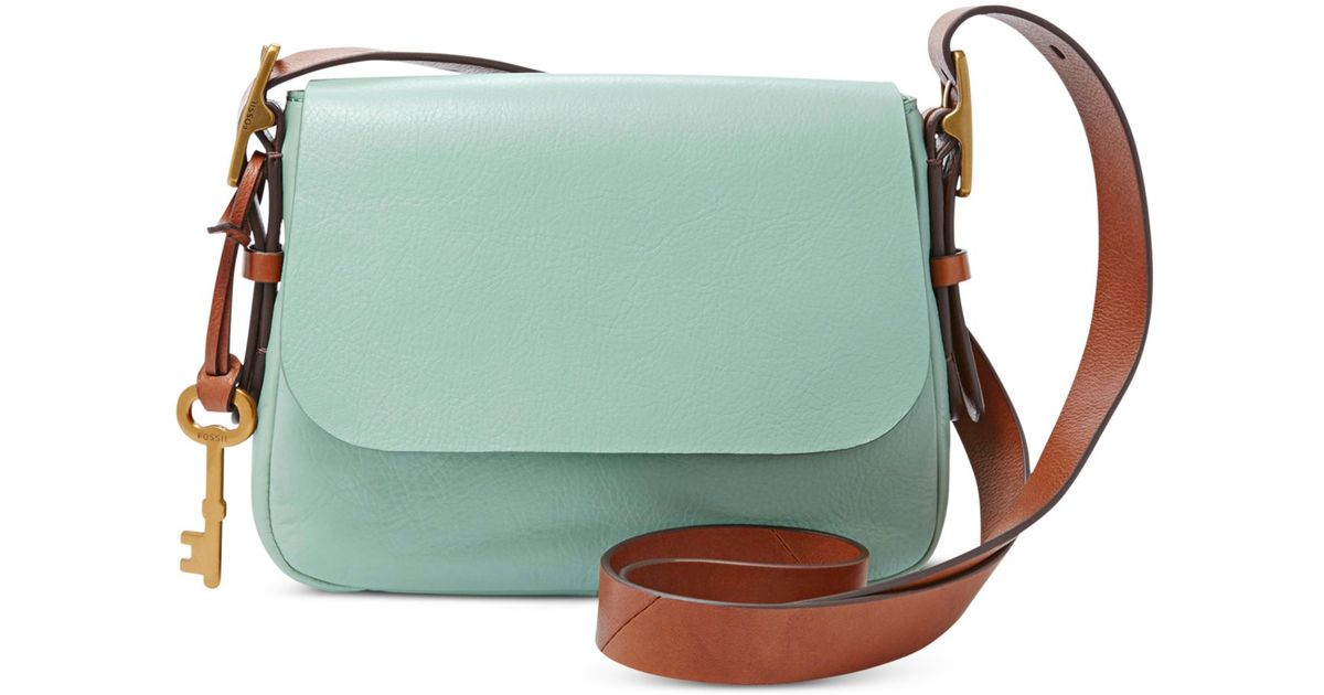 5d52c9efcad3 Lyst - Fossil Harper Leather Small Crossbody in Green