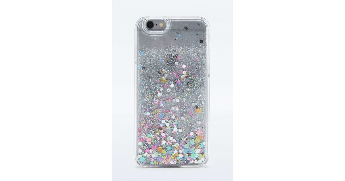 Urban Outfitters Glitter Time Iphone 6 Case In Metallic Lyst