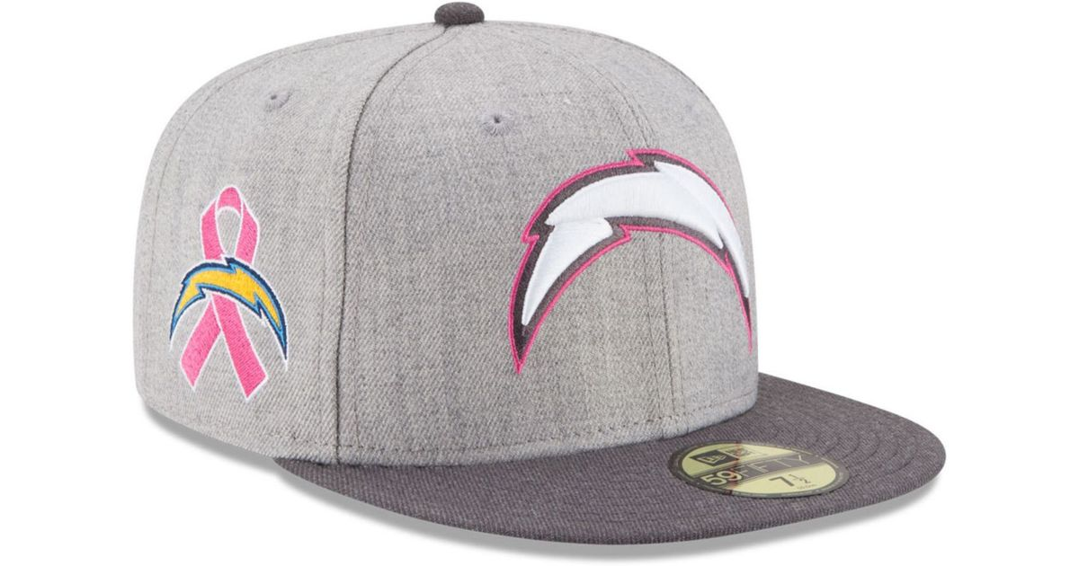 Lyst - Ktz San Diego Chargers 2015 Bca 59fifty Cap in Pink for Men e8a7632d8
