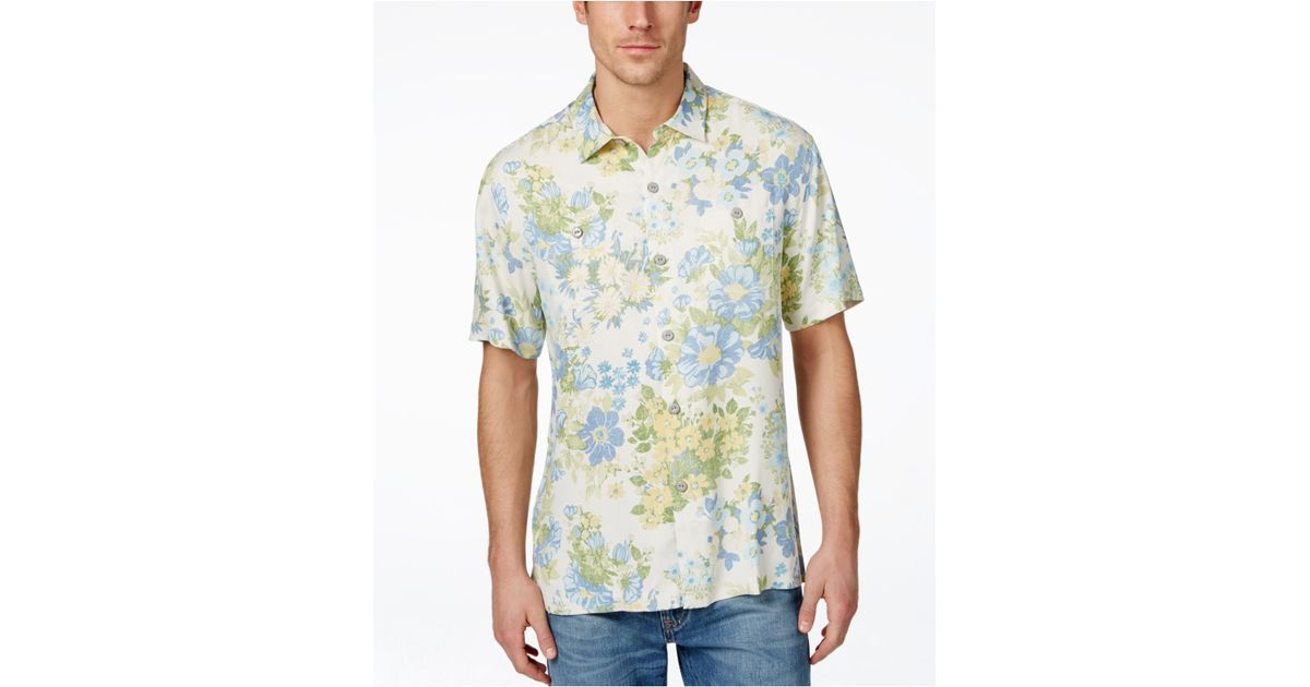 Tommy Bahama Men 39 S Yarra Valley Floral Print Silk Shirt In