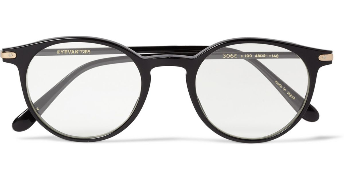 a4c53a2c86 Lyst - Eyevan 7285 306 Roundframe Acetate Optical Glasses in Black for Men