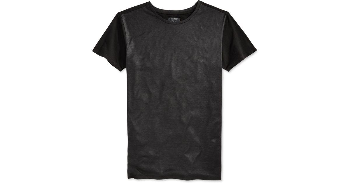 Guess men 39 s mason shine longline t shirt in black for men for Mason s men s shirts