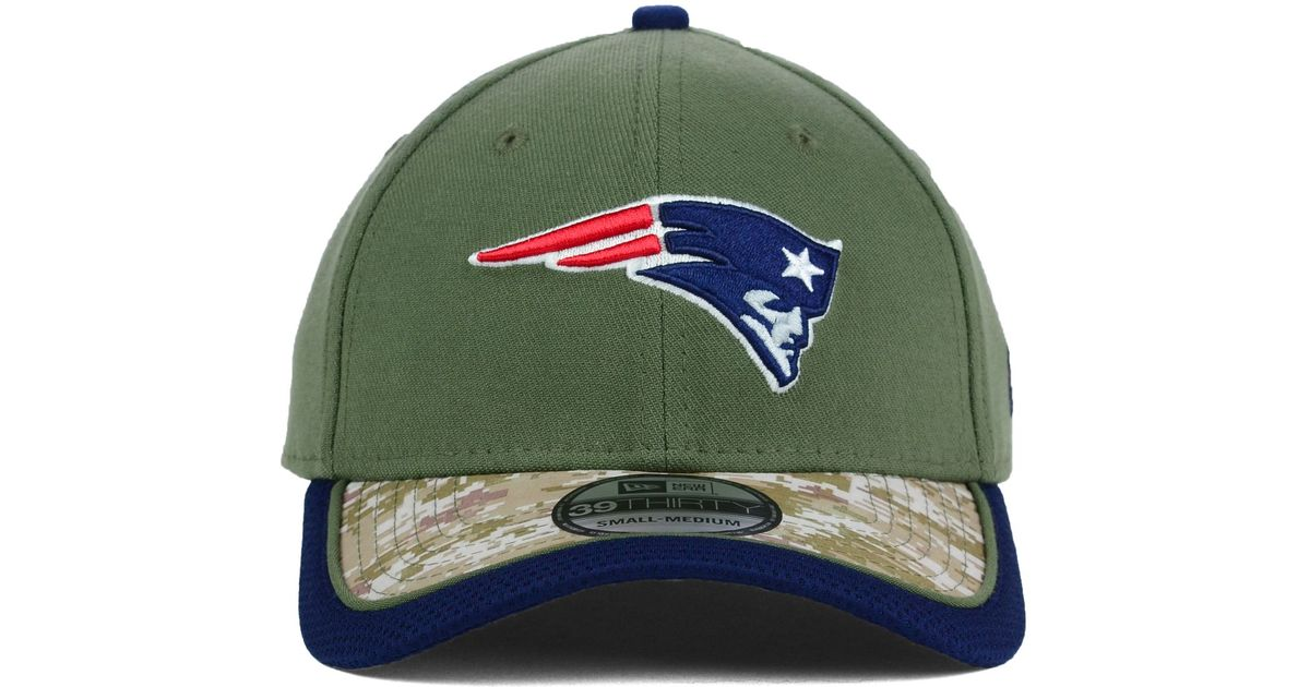 pretty nice fc924 698be ... cheap lyst ktz new england patriots salute to service 39thirty cap in  green for men 6946c