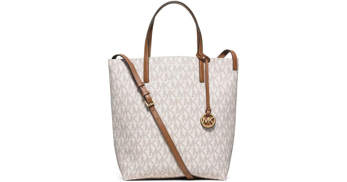 a6605eaae83b2b MICHAEL Michael Kors Hayley Large Convertible Tote Bag in White - Lyst