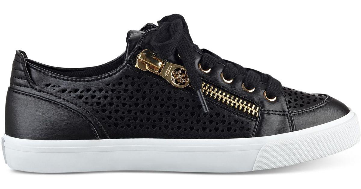6ac2669b406301 Lyst - Guess Women s Gerlie Lace-up Sneaker in Black