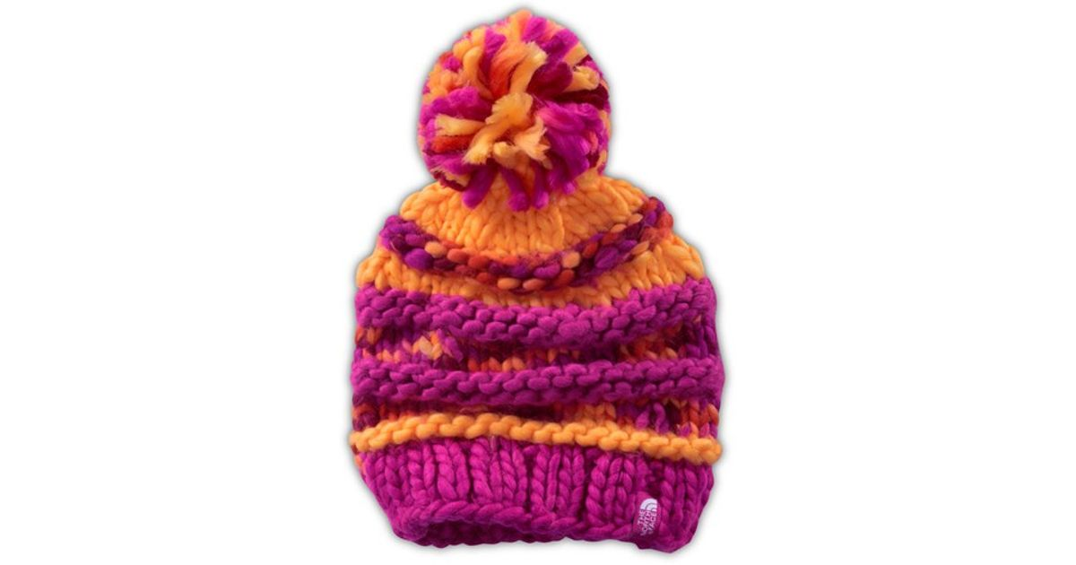4f4178c7439 Lyst - The North Face  nanny  Knit Beanie in Purple
