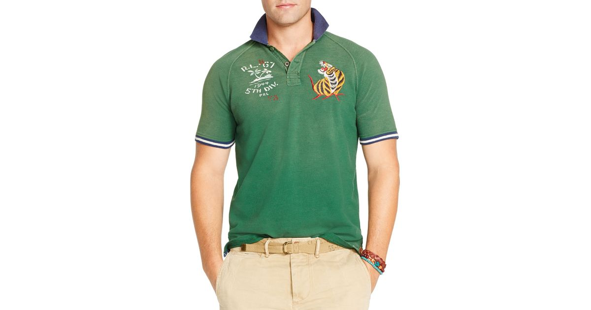 Lyst - Ralph Lauren Polo Embroidered Polo Shirt - Regular Fit in Green for  Men