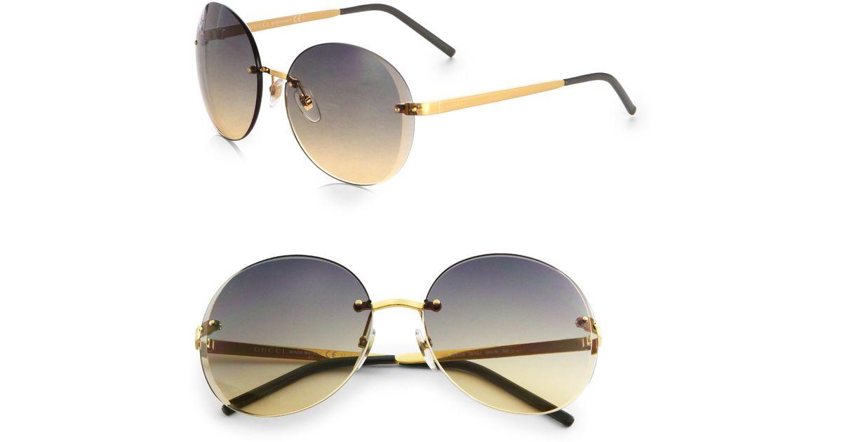 758588e2a7e09 Gucci Oversized Round Sunglasses