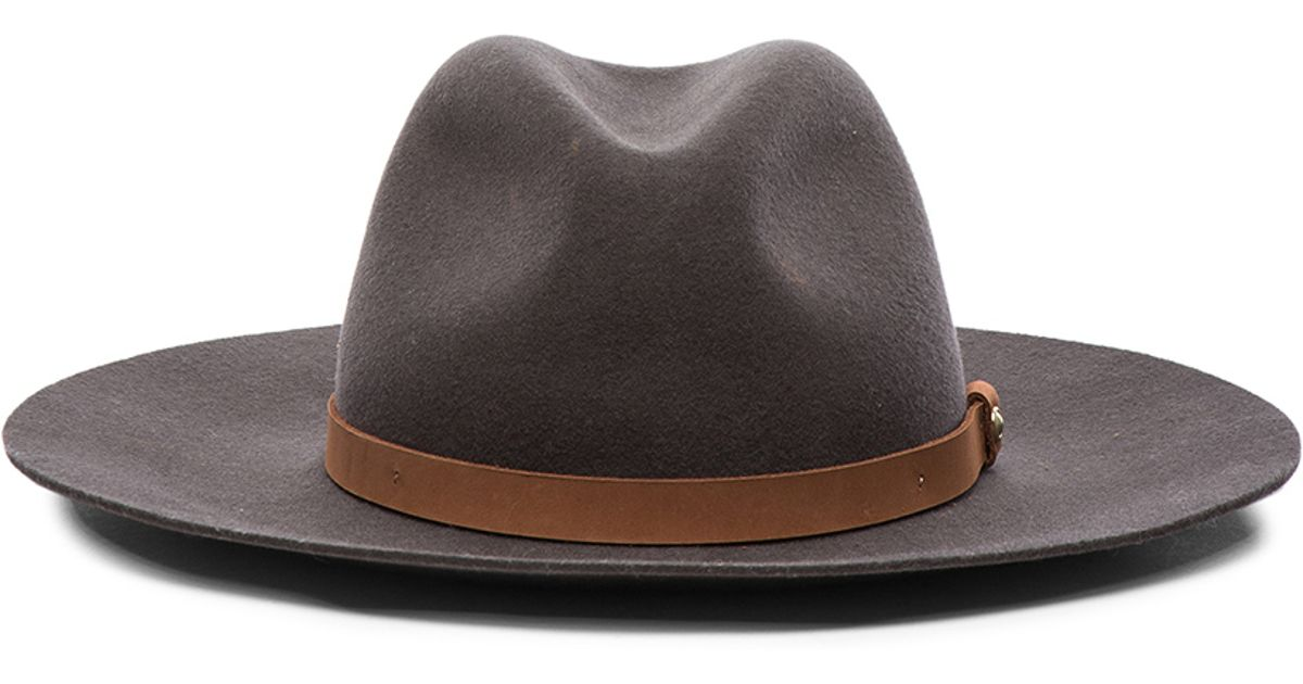 Lyst - Rag   Bone Wide Brim Fedora Hat in Gray 8cbc555ace1