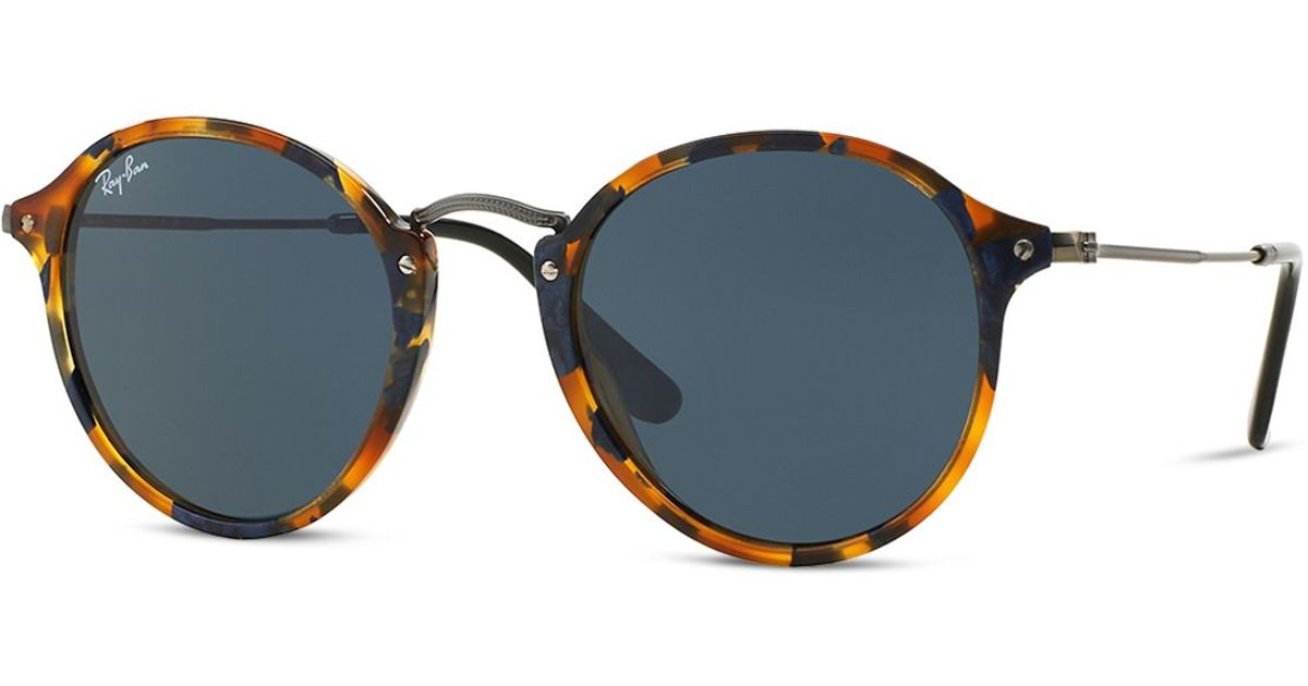 a582a6433f Ray-Ban Retro Round Sunglasses in Blue for Men - Lyst