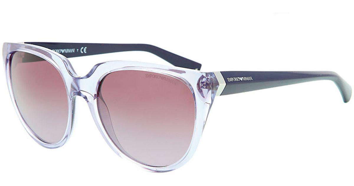 cd257892ec23 Emporio Armani Essential Leisure Cat-Eye Sunglasses in Brown for Men - Lyst