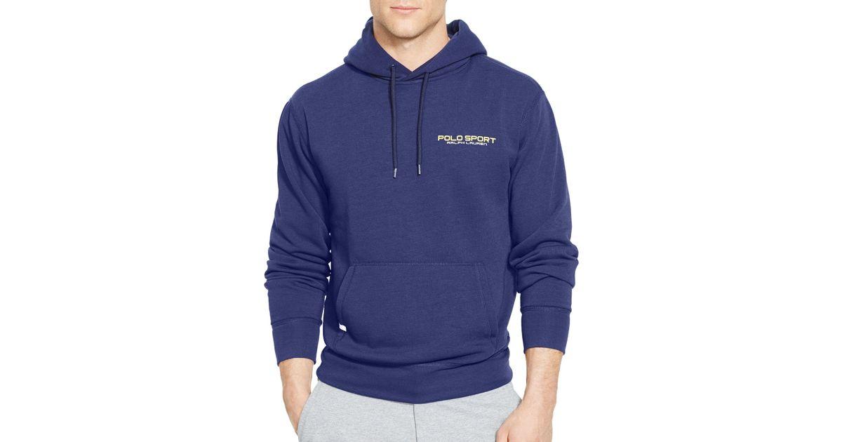 0e3c33b65d2d ... australia lyst ralph lauren polo sport fleece pullover hoodie in blue  for men 188ee ee20c