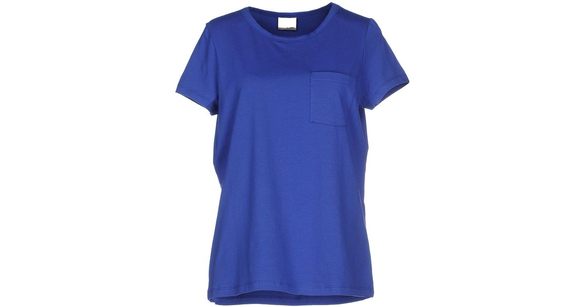 vero moda t shirt in blue lyst. Black Bedroom Furniture Sets. Home Design Ideas