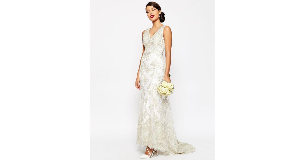 Simple Wedding Dresses Asos: Asos Bridal Vintage Lace Button Back Fishtail Maxi