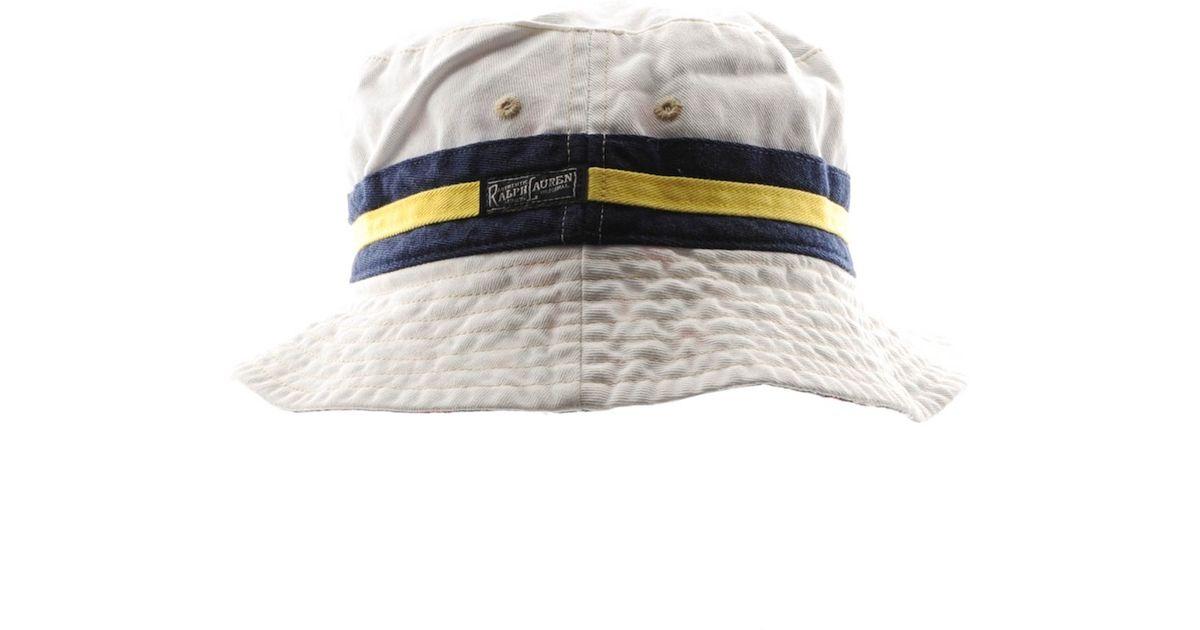 be8bf77649e Lyst - Ralph Lauren Reversible Beachside Bucket Hat in White for Men