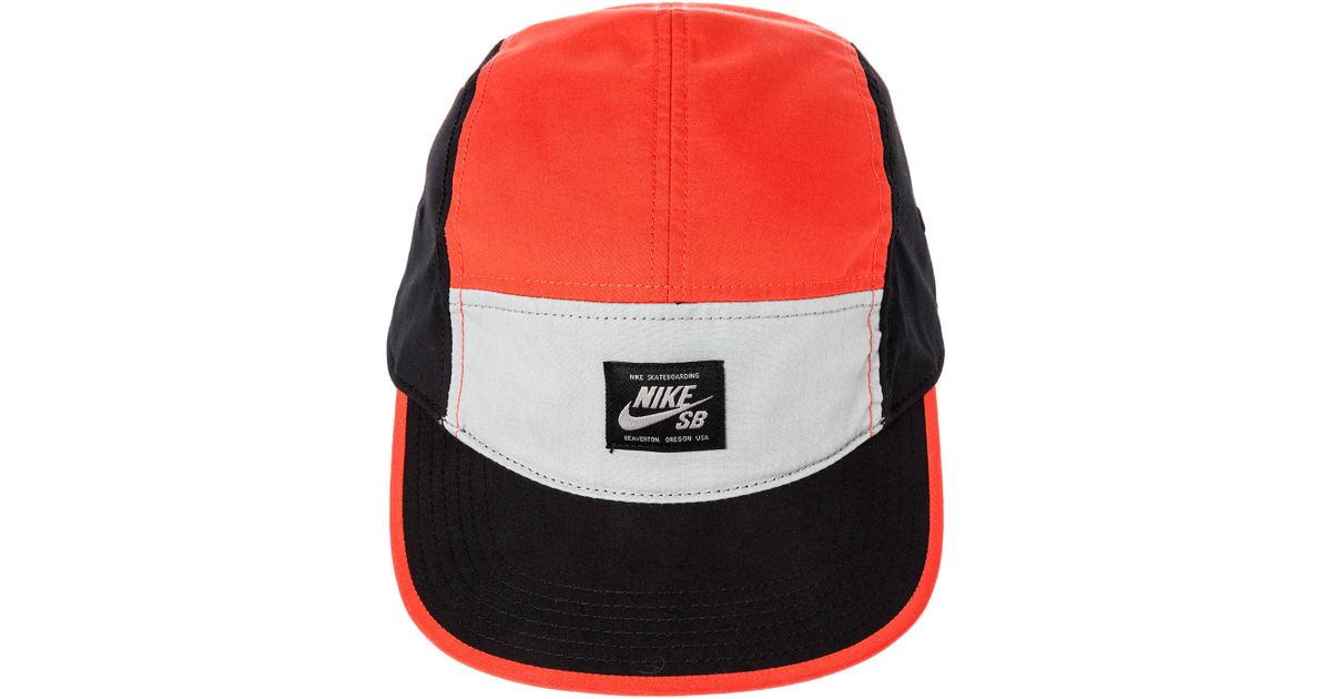 Lyst - Nike The Blocked 5 Panel Hat in Red for Men 4037873e29e8