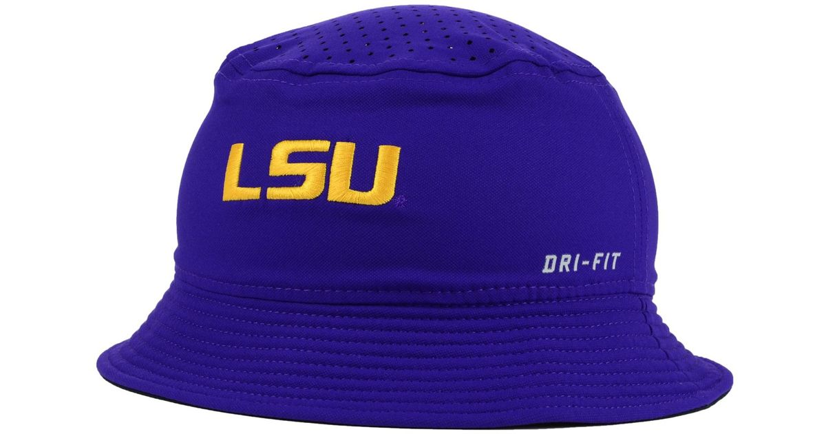 fc7388da27d ... italy lyst nike lsu tigers vapor bucket hat in purple for men 5d105  11f36