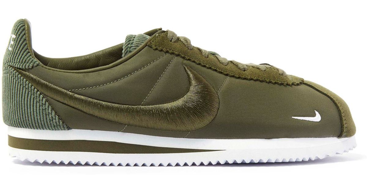 more photos 5d4fa 29ac4 Lyst - Nike Olive Classic Cortez Trainers in Green