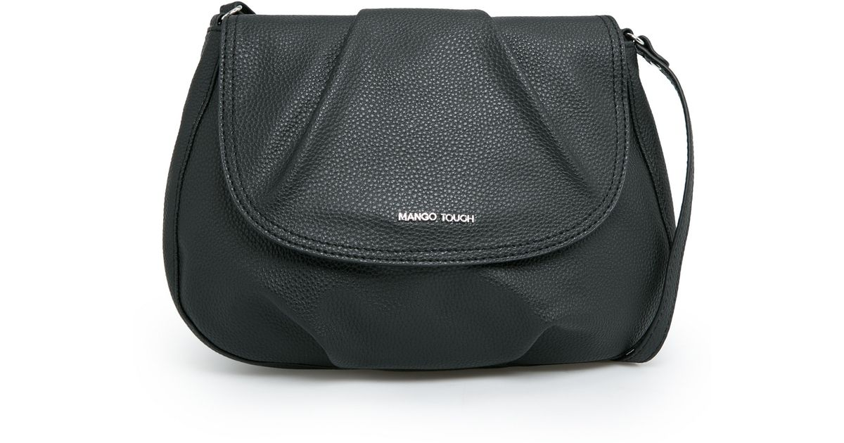 20c51225a8 Mango - Black Pebbled Cross Body Bag - Lyst