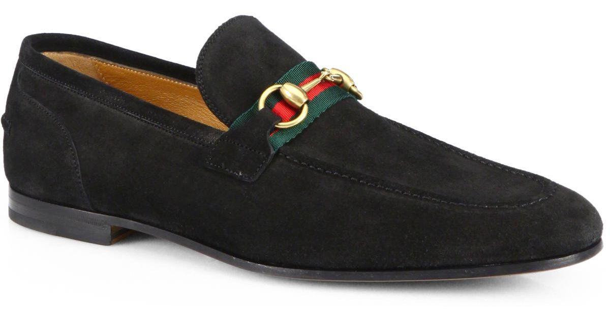 Mens Black Suede Loafer Shoes