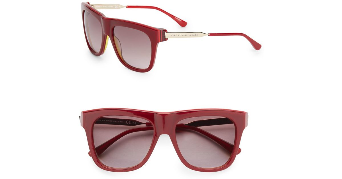 2253f6017ca1 Lyst - Marc By Marc Jacobs 53mm Wayfarer Sunglasses in Red