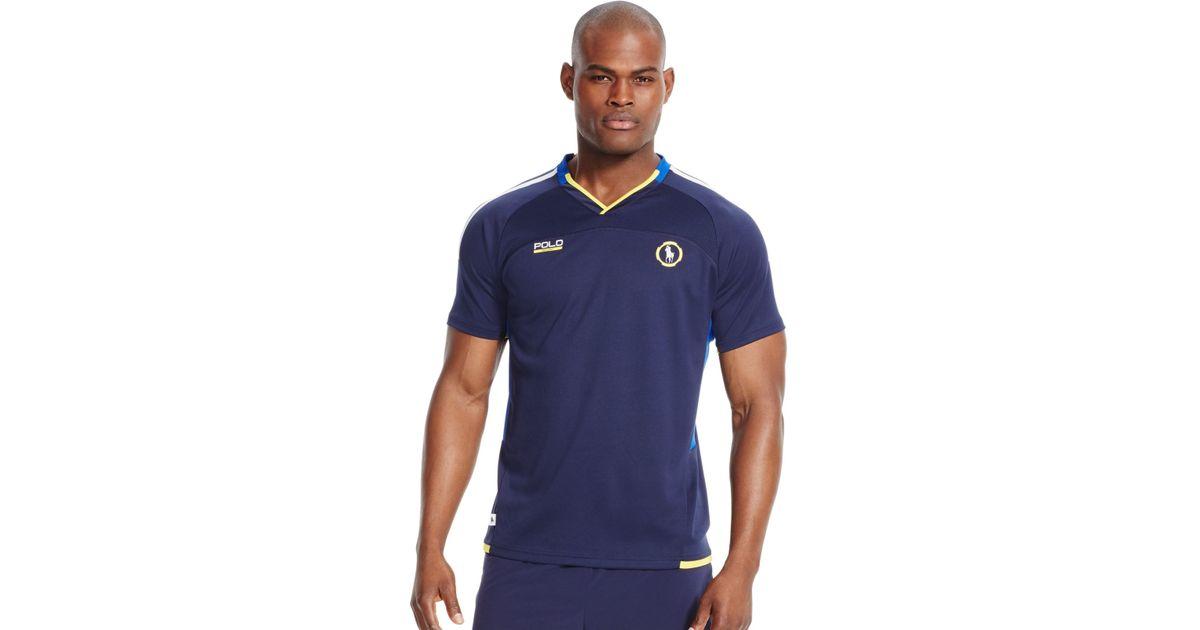 f6ca75a1f ... sweden lyst polo ralph lauren polo sport mens micro dot v neck t shirt  in blue