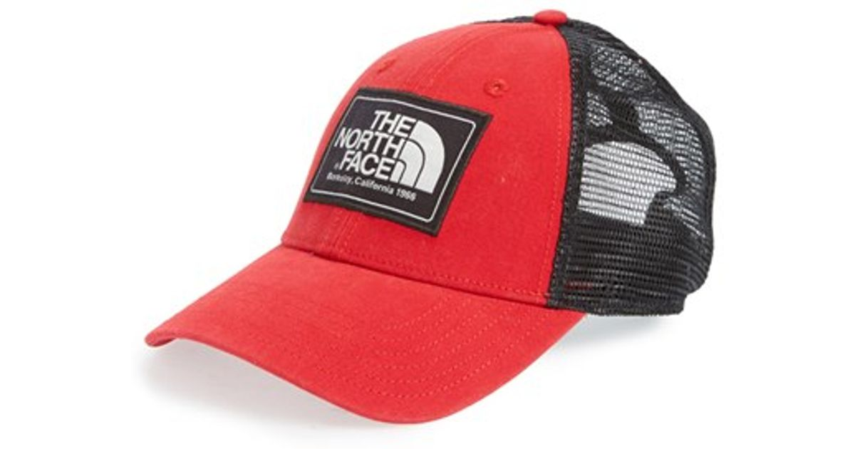 trucker cap the north face