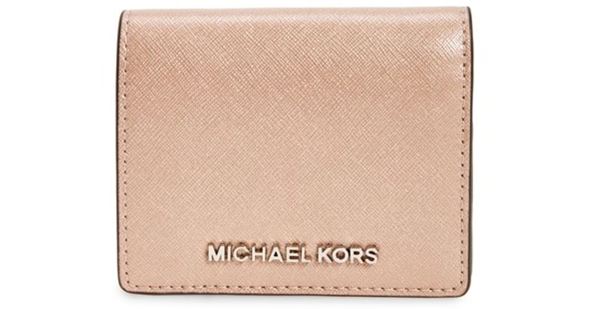 a31d1c117848f Lyst - MICHAEL Michael Kors  jet Set  Card Holder in Metallic