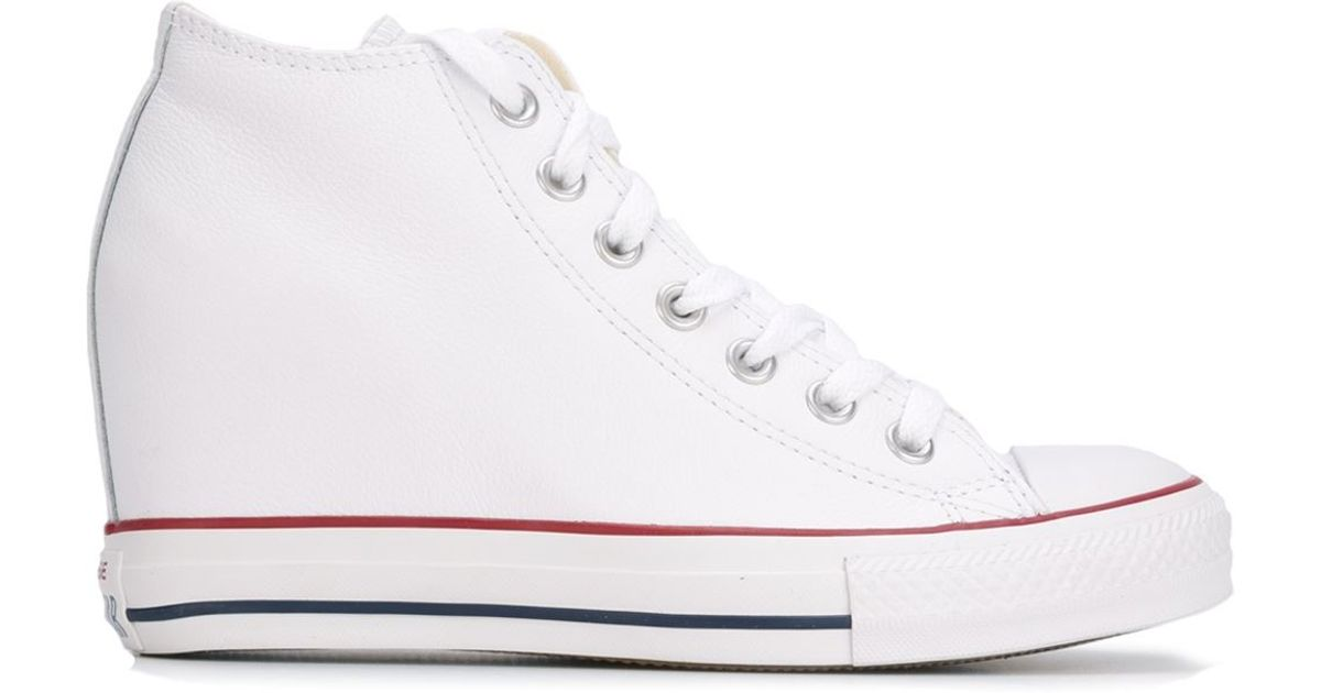 d467b5bdd7c Lyst - Converse  chuck Taylor All Star Lux Wedge  Sneakers in White